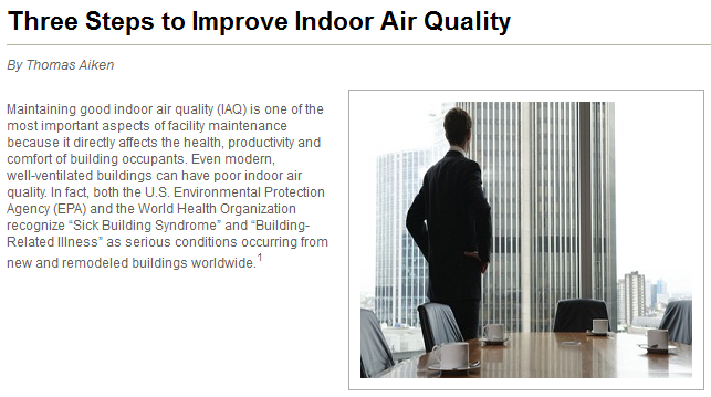three steps to improve indoor air quality