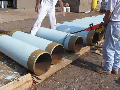 Coated Cylindrical Tubes